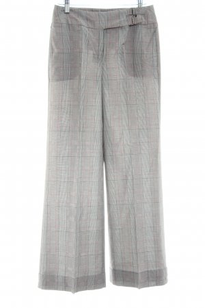 Max & Co. Marlene Trousers light grey-red check pattern business style