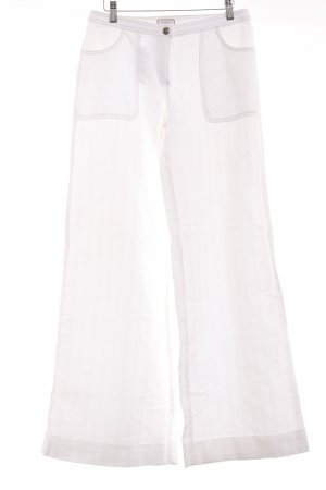 Max & Co. Marlene Trousers natural white striped pattern classic style