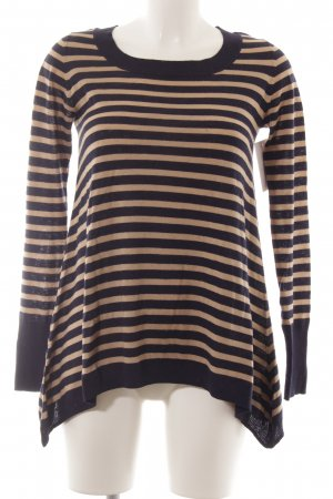Max & Co. Oversized Pullover beige-dunkelblau Streifenmuster Casual-Look