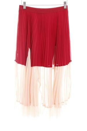 Max & Co. Jupe plissée rouge foncé-rose chair gradient de couleur