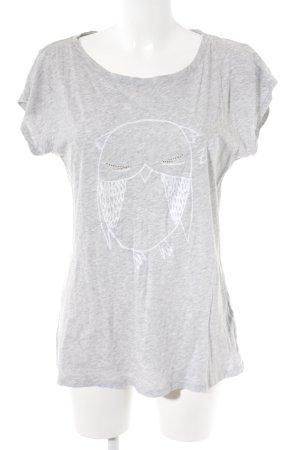 Max & Co. Print-Shirt hellgrau meliert Casual-Look