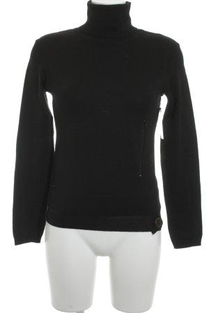 Max & Co. Rollkragenpullover schwarz schlichter Stil