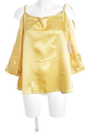 Max & Co. Schlupf-Bluse goldfarben 70ies-Stil
