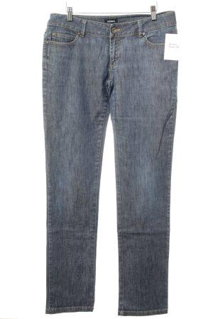Max & Co. Slim Jeans dunkelblau Webmuster Jeans-Optik