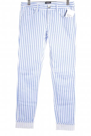 Max & Co. Slim Jeans weiß-kornblumenblau Streifenmuster