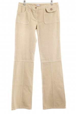 Max & Co. Stoffhose olivgrün-creme Streifenmuster Casual-Look