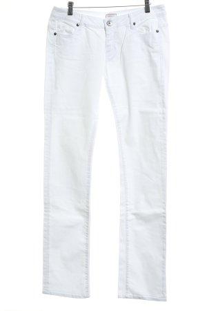 Max & Co. Jeans a gamba dritta bianco stile casual