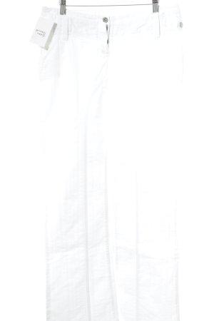 Max & Co. Straight-Leg Jeans weiß Streifenmuster Jeans-Optik