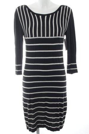 Max & Co. Strickkleid schwarz-weiß Streifenmuster klassischer Stil