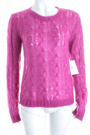 Max & Co. Strickpullover magenta Zopfmuster Street-Fashion-Look