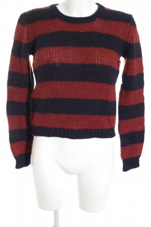 Max & Co. Strickpullover rostrot-dunkelblau Streifenmuster Casual-Look