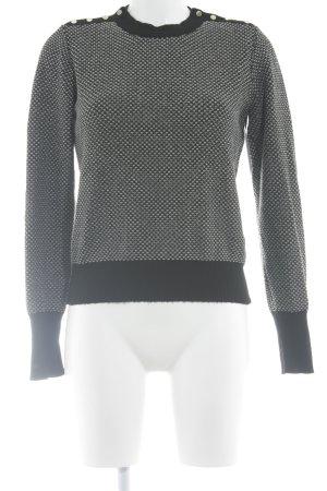 Max & Co. Strickpullover schwarz-weiß Casual-Look
