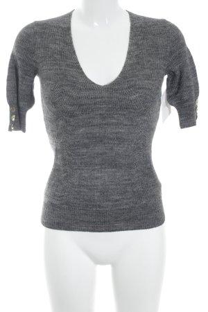 Max & Co. Strickshirt grau meliert klassischer Stil