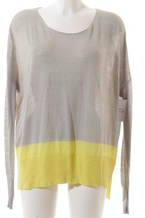 Max & Co. Strickshirt hellgrau-gelb Colourblocking