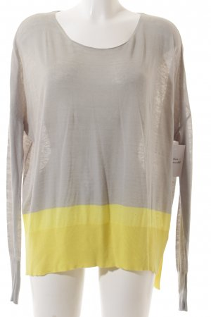 Max & Co. Knitted Jumper light grey-yellow color blocking