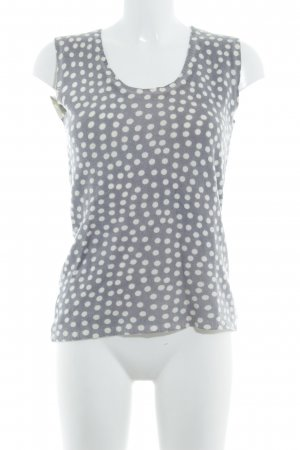 Max & Co. Knitted Top grey-natural white spot pattern Metal buttons