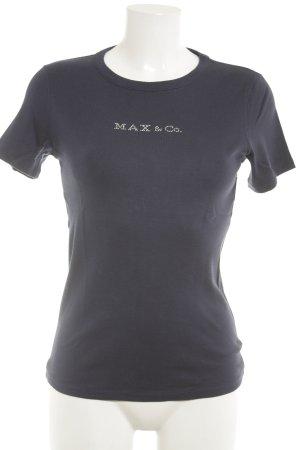 Max & Co. T-Shirt dunkelblau Casual-Look