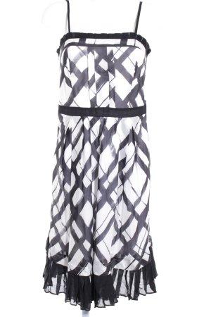 Max & Co. Trägerkleid schwarz-weiß Karomuster Elegant