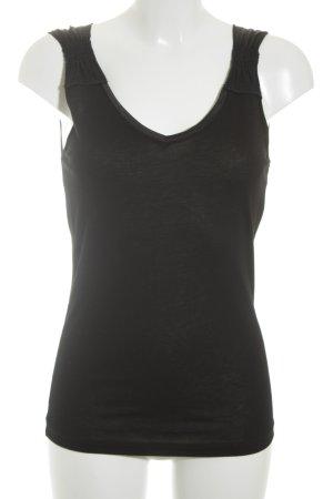Max & Co. Trägertop schwarz klassischer Stil