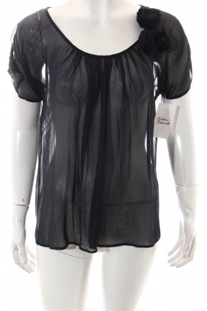 Max & Co. Transparenz-Bluse dunkelblau klassischer Stil