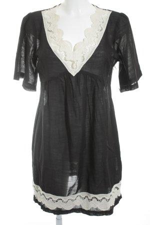 Max & Co. Tunikakleid schwarz-wollweiß minimalistischer Stil