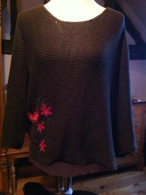 Max & Co wunderschöner, olivfarbener Pullover Größe L 40 42
