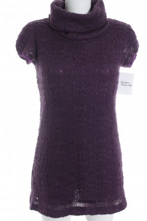 MAX CONNECTION Knitted Jumper dark violet loosely knitted pattern casual look