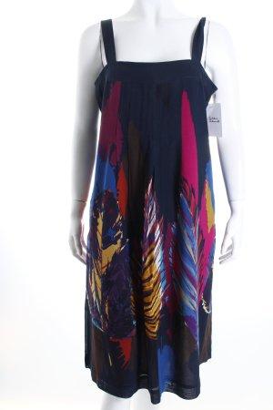 Max Mara A-Linien Kleid abstraktes Muster Beach-Look