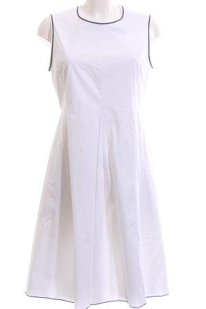 Max Mara A-Linien Kleid weiß Elegant