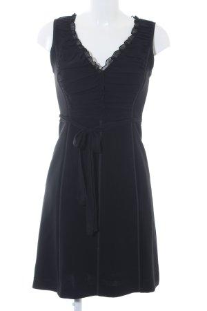 Max Mara A-Linien Kleid schwarz klassischer Stil
