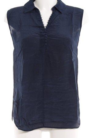 Max Mara ärmellose Bluse dunkelblau Elegant
