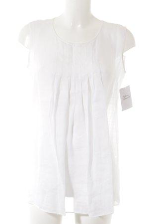 Max Mara ärmellose Bluse weiß schlichter Stil