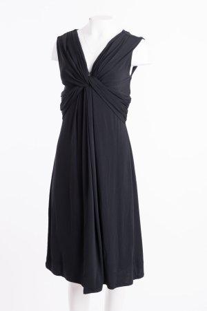 MAX MARA - Ärmelloses Kleid mit geraffter Brust Schwarz