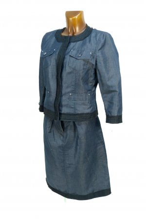 Max Mara Costume business gris ardoise