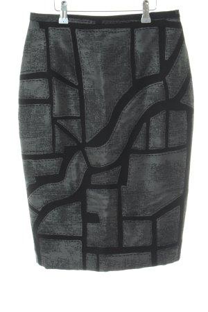 Max Mara Bleistiftrock schwarz-grau schlichter Stil
