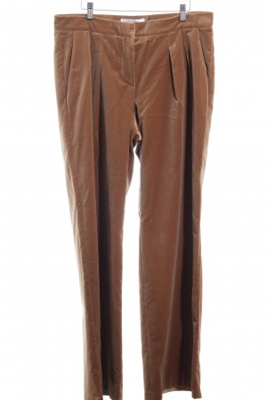 Max Mara Pleated Trousers camel velvet appearance