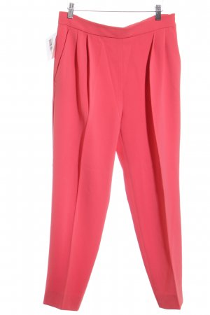 Max Mara Bundfaltenhose magenta Business-Look