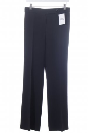 Max Mara Bundfaltenhose schwarz Business-Look