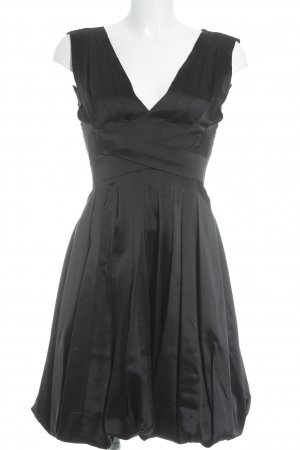 Max Mara Cocktailkleid schwarz Glanz-Optik