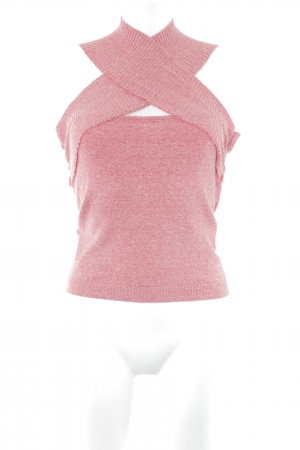 Max Mara Cropped Top hellrot-rosé meliert schlichter Stil