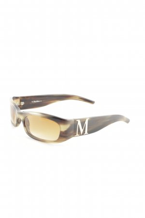 Max Mara Angular Shaped Sunglasses brown-beige tortoise pattern