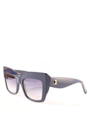 Max Mara eckige Sonnenbrille dunkelblau extravaganter Stil