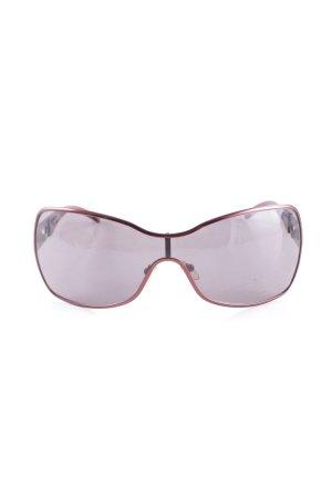 Max Mara eckige Sonnenbrille rostrot schlichter Stil