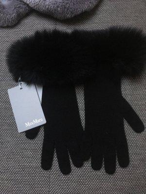 Max Mara Bont handschoenen zwart