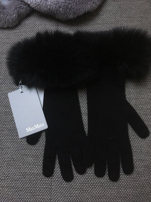 Max Mara Fur Gloves black