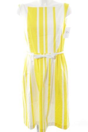Max Mara Abito aderente giallo-bianco motivo a righe elegante