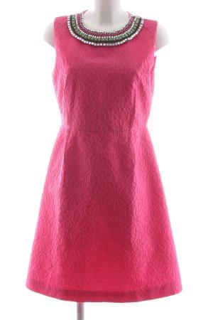 Max Mara Abito aderente rosa-verde prato motivo floreale elegante