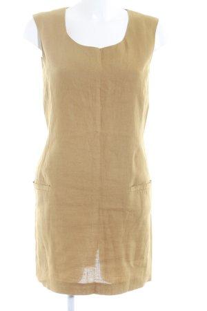 Max Mara Vestido ceñido de tubo marrón arena Patrón de tejido look casual