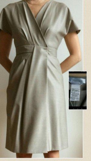 Max Mara faux wrap dress beige
