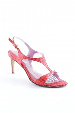 Max Mara High Heel Sandal bright red animal pattern elegant
